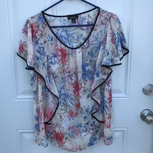 ALYX, short sleeve blouse, size 1X, like new